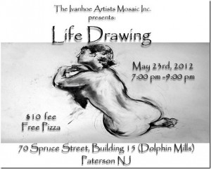Life Drawing Classes at the Dolphin Mills May 23, 7pm-9pm